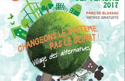 Alternatiba - Village des alternatives - Samedi 23 et dimanche 24 Septembre 2017