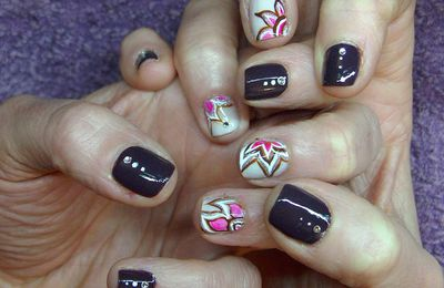 "Nail Art ""improvisation du weekend"""