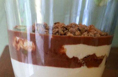 Mousse Cacahuètes - Sauce Chocolat