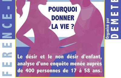 """Conférence-débat à Aix : """"POURQUOI DONNER LA VIE"""""""