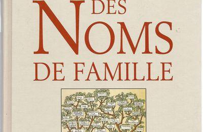 Un dictionnaire étymologique des noms de famille !