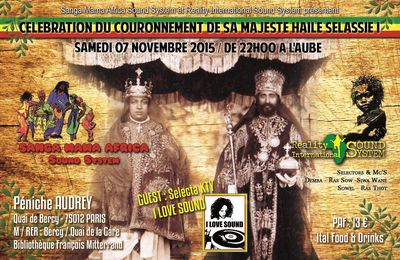 soirée reggae sound-systems à Paris le sam.7 nov. 2015 - Reality International + Sanga Mama Africa + Kty selekta