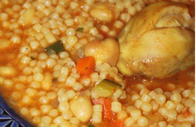 AÏch ou Berkoukes au poulet (plombs à l'algérienne)
