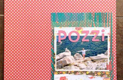 Page de scrap : randonnée dans les Pozzi - Corse
