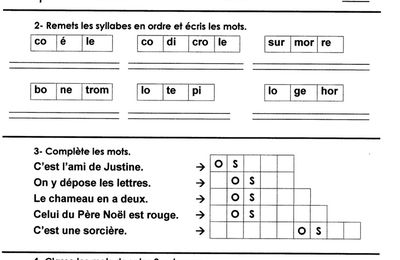 Phonologie: o ouvert, fiche 2