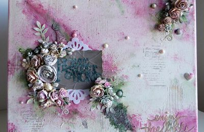 Canvas mixed-media shabby ...
