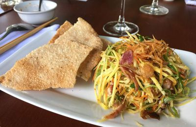 Salade de poulet mangue verte