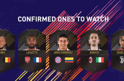 FIFA 18 - 5 NOUVEAUX ONE TO WATCH DEVOILES