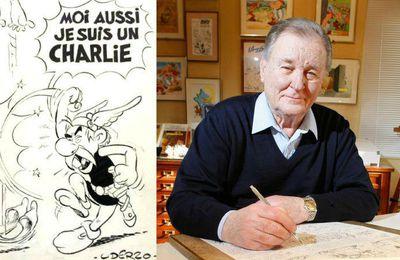 Hommage d'Uderzo... il est Charlie