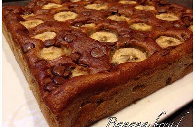 Banana bread (ou gâteau à la banane trop mûre)