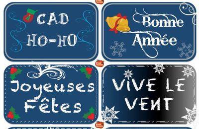 Étiquettes de Noël 2014 à télécharger gratuit