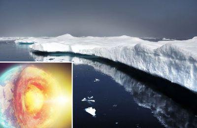 Révélation choc – la couche de glace fond à cause du réchauffement du noyau de la terre , et non pas à cause du réchauffement global
