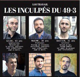 FRANCE : La répression « individualisée » des opposants à la loi travail