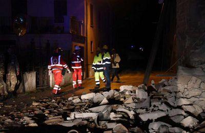 ITALIE : Deux secousses de magnitude 5,4 et 5,9 touchent à nouveau le centre faisant au moins un blessé