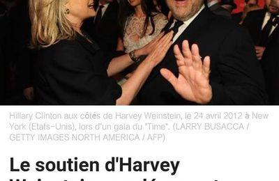 MAJ l'affaire Harvey Weinstein... soutien des démocrates US embarrasse Hillary Clinton et Obama ! PHOTOS