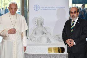 Devinez que représente la statue offerte par le pape à l'ONU ?
