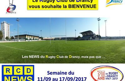 RCD News du RC Drancy du 11 au 17/09/2017