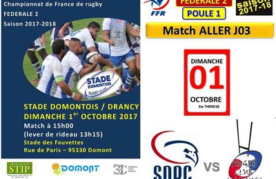 RCD News du RC Drancy: du 25/09 au 01/10/2017