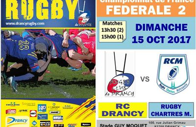 14 et 15 Octobre 2017 : WEEK END RUGBYSTIQUE au Stade Guy Moquet