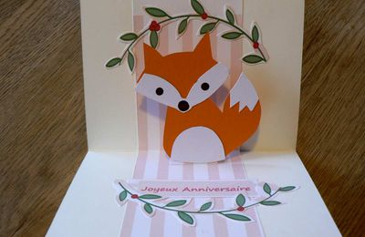 Comment faire une carte pop up anniversaire petit renard