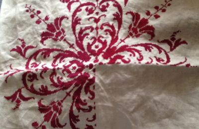 Broderie coussin : suite