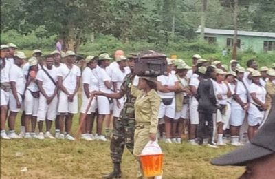 [Pic] Female Corper Decamped For Slapping Male Corper