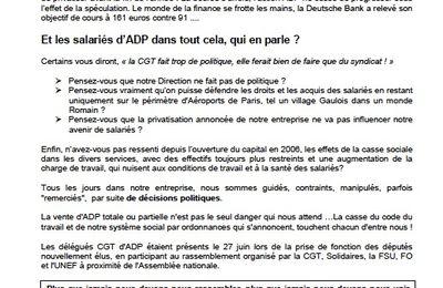 """ADP """"en marche"""" pour la privatisation ?"""