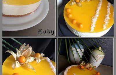 bavarois coco insert abricot
