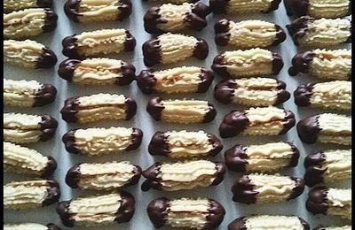 pattes de chat au caramel/chocolat