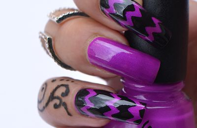 Nail Art chevrons