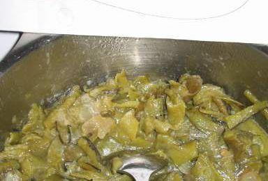 Cosses de fèves à la portugaise