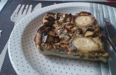 Quiche sans pâte aubergine & chêvre