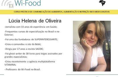 Lúcia Helena de Oliveira - Prof. Wi-Food - BR.