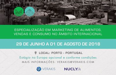 Marketing de Alimentos - Certificado Internacional - Edição 2018.
