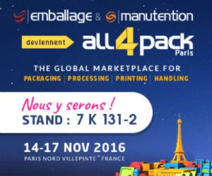 On y sera : Salon de l'emballage de Paris (All 4 Pack) - 14 au 17/11 2016