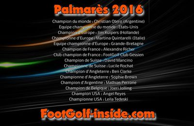 Palmarès 2016