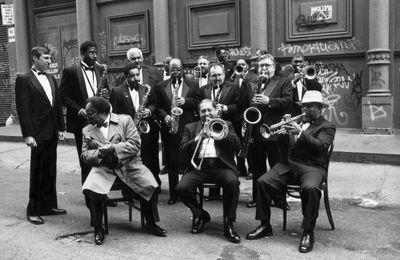 Les jazzmen saisis par Arthur Elgort