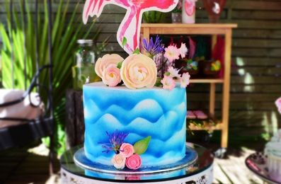 Sweet table Flamant rose