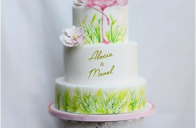 Wedding cake Flamant rose