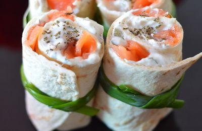 Mini Wraps Saumon Tzatziki