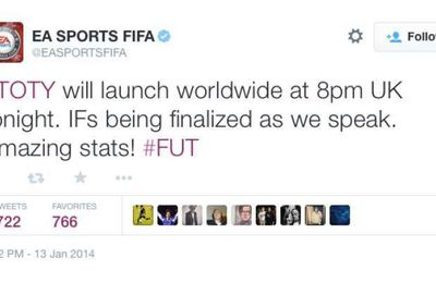 FIFA 15 Team of the Year UK release time