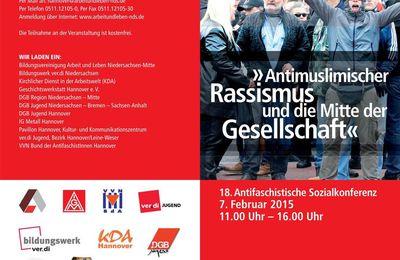 Hannover 7.2.15 - Antifaschistische Sozialkonferenz: Antimuslimischer Rassismus