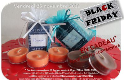 Black Friday 25 novembre 2016 : La folie des bougies