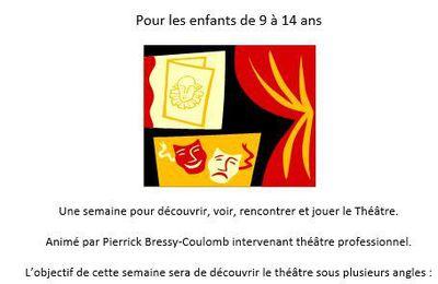 """En partenariat avec le Trac, stage découverte """"théâtre"""" pour les enfants de 9 à 14 ans - du 24 au 28 juillet 2017."""