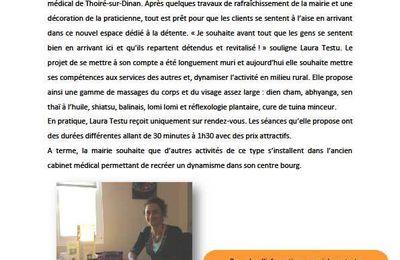 Un salon de massage a ouvert ses portes à Thoiré-sur-Dinan.