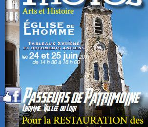 Exposition Photos église de Lhomme