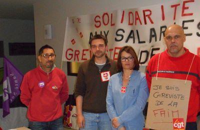 Soutien aux grévistes de la faim du CHU Limoges