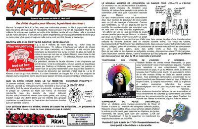 CARTON ROUGE: BULLETIN DES JEUNES DU NPA DISTRIBUES LE 23.05 AU LYCEE DE LOUVIERS