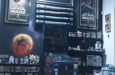 Graffiti Star Wars en un Loft de Madrid