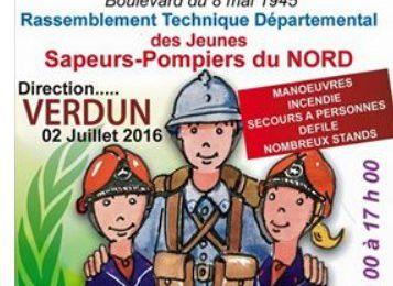 Les jeunes Sapeurs Pompiers à Denain pour Verdun...